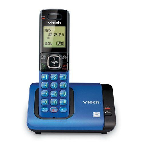 VTech CS6719 15 DECT 6.0 Cordless Phone with Caller ID Call Waiting 1 Handset Blue