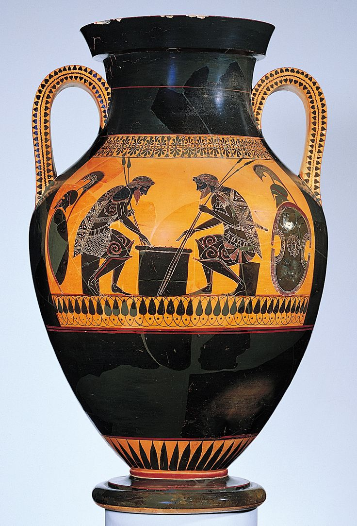 Two-handled jar (amphora) with Achilles and Ajax: This ...