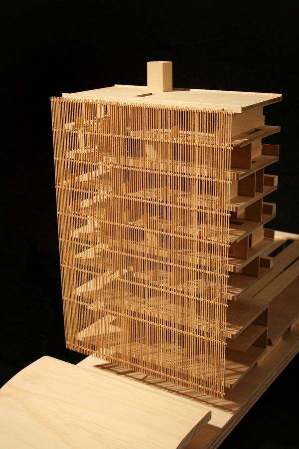 Wall by Kyle Schumann, architectural model