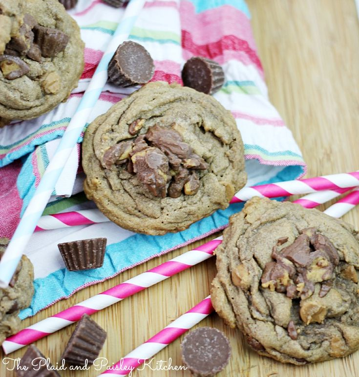 Chocolate Peanut Butter Chip Reese's Minis Cookies and Blog Anniversary Giveaway!