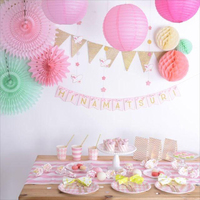 ひな祭り用吊るし飾りとレターバナーをフリーダウンロード! |by Little Lemonade