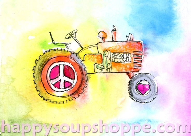 watercolor farming in Vermont. www.happysoupshoppe.com