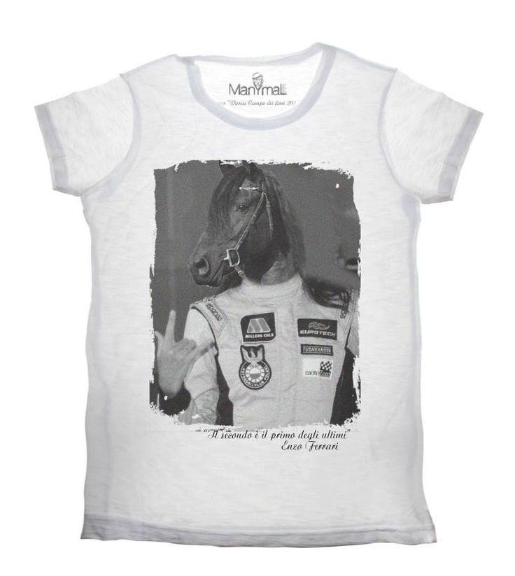 T-shirt retro cavallo Available on www.manymaltshirt...