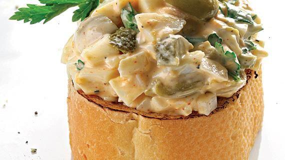 Яичный салат с оливками и горчицей. Пошаговый рецепт с фото на Gastronom.ru