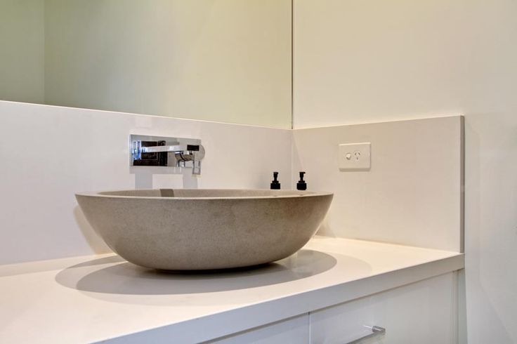 A modern basin is a beautiful addition to any luxury bathroom area.