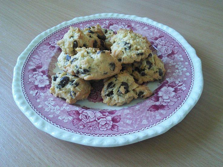 April 2014, Germany - Schokosplitterkekse (choc-chip almond cookies)