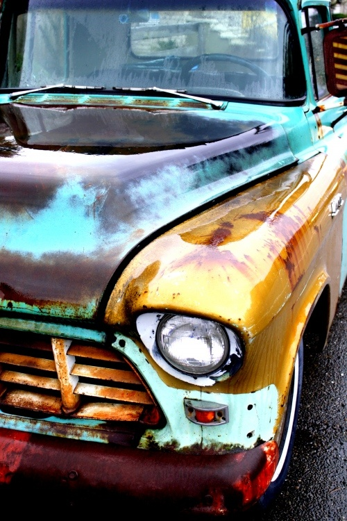Rusty colored '56 Chevy Apache