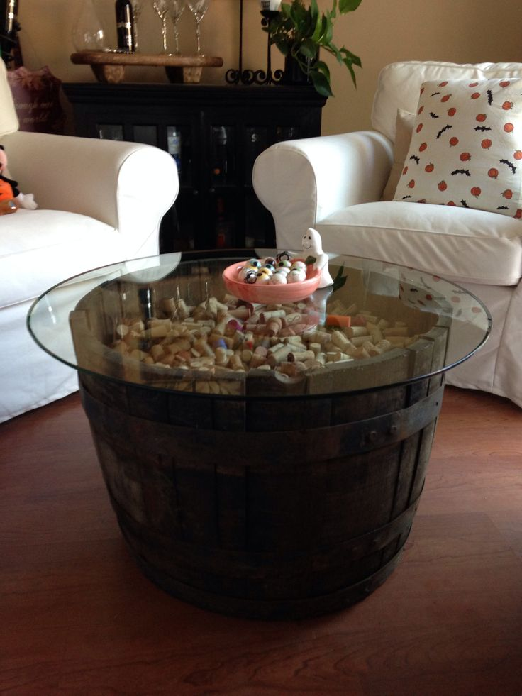 Wine Barrel Coffee Table Home Pinterest Dark We And Tables