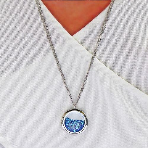 Souldance Pure Aqua Swarovski Silver Necklace - Aistikas
