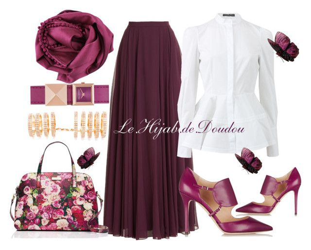 """""""Hijab Outfit"""" by le-hijab-de-doudou ❤ liked on Polyvore featuring moda, Halston Heritage, Alexander McQueen, Bajra, Jimmy Choo, Karl Lagerfeld e Repossi"""
