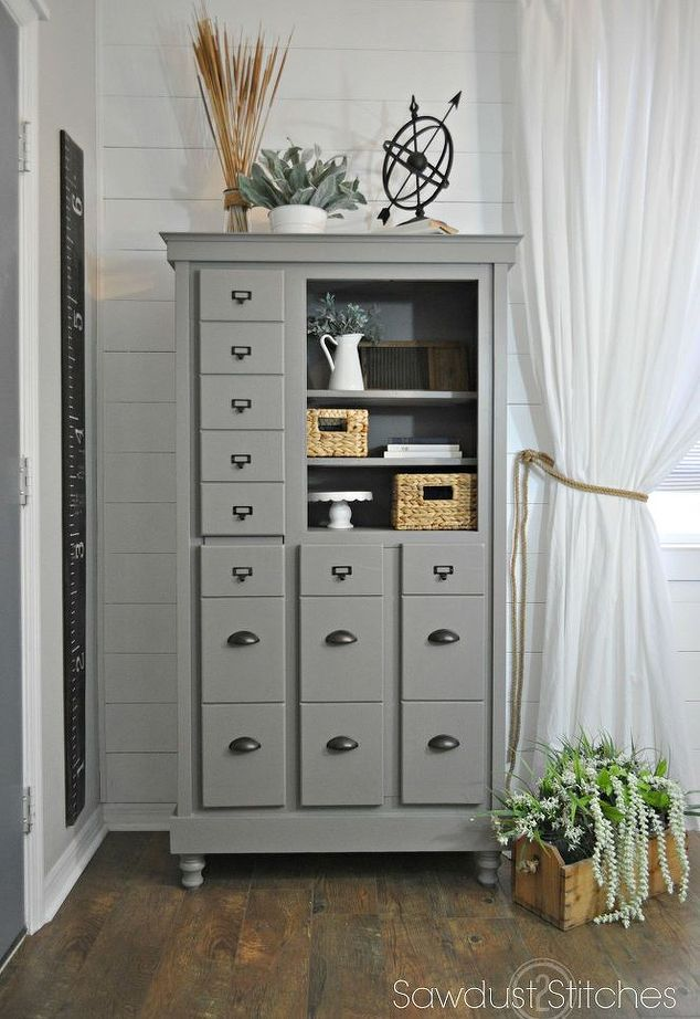 Diy Foyer Furniture : Old dresser into a complete mudroom diy foyer painted