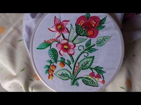 Hand embroidery designs. Hand embroidery stitches tutorial. Diseño de bordado a mano - YouTube