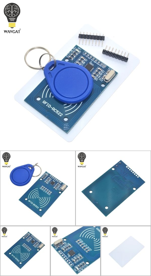Free Shipping Rfid Module Rc522 Kits S50 13 56 Mhz 6cm With Tags Spi Write Read For Arduino Uno 2560 Module Electronique