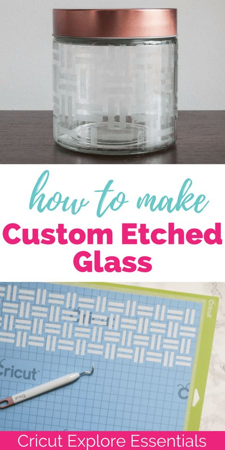 Did you know that you can create your own custom stencil to etch glass using the Cricut Explore? Full tutorial for using stencil vinyl and etching glass in this post! This is one to pin for later!
