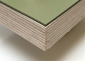 Tischplatte für Linoleum in 21 mm in 4184 Oliven