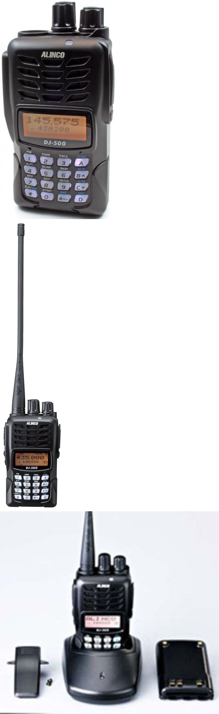 Ham Radio Transceivers: Alinco Dj-500T-144Mhz/430Mhz Fm Dual Band 5W Handheld Transceiver. Free S/H BUY IT NOW ONLY: $119.95
