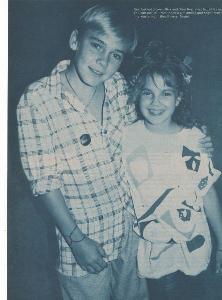 Ricky Schroder and Drew Barrymore
