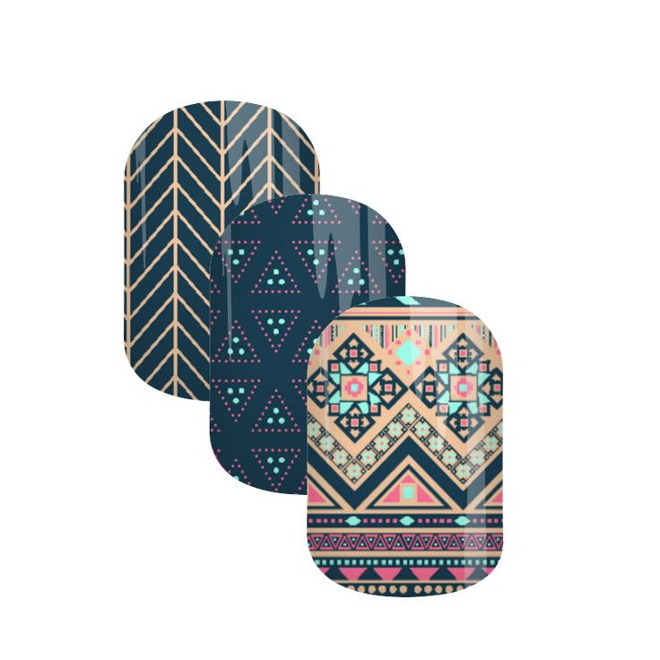 Abstract Rules| Jamberry Nail Art Studio | Custom Design by Dazzling Darlene | This mani defines the tribal theme in rich and vibrant colors. There is so much to love about the design in itself.