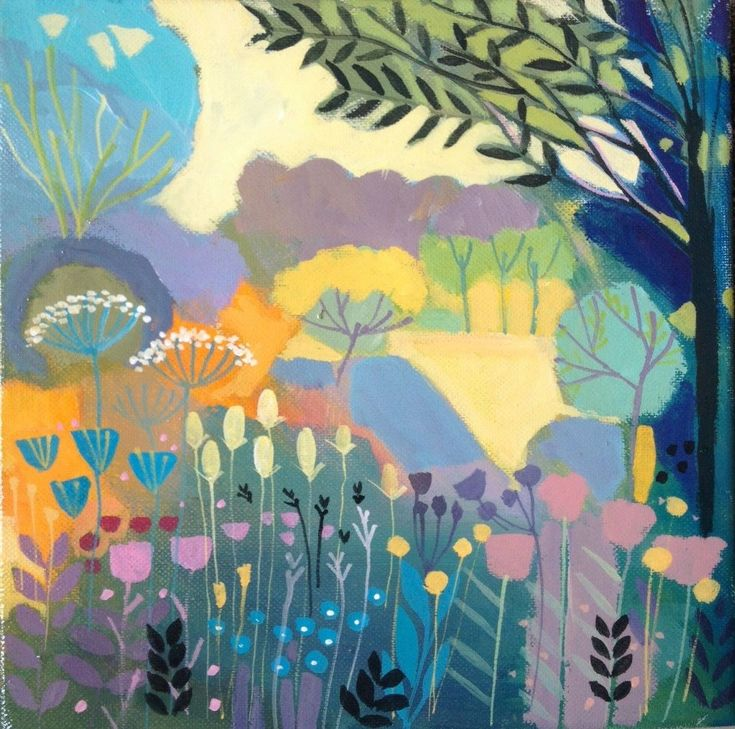 Original Acrylic Landscape Painting on Canvas - In the Shade- by Annabel Burton   eBay
