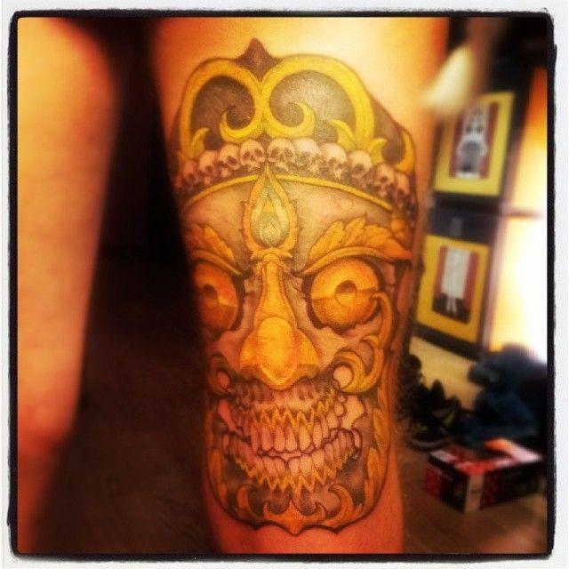 skull tattoo by ALX TRAMP, Fisherman Tattoo Club, Aix en Provence