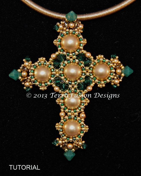254 best beaded cross images on pinterest beaded cross seed beads joan of lorraine cross pendant from the crosses of byzantium collection by gwen lane and alisa neal visit our etsy shop thebeadnikdivas aloadofball Choice Image