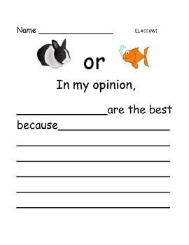 Opinion Writing: Favorite Pets (Kindergarten, 1st grade, 2nd grade) - 6 pages - $