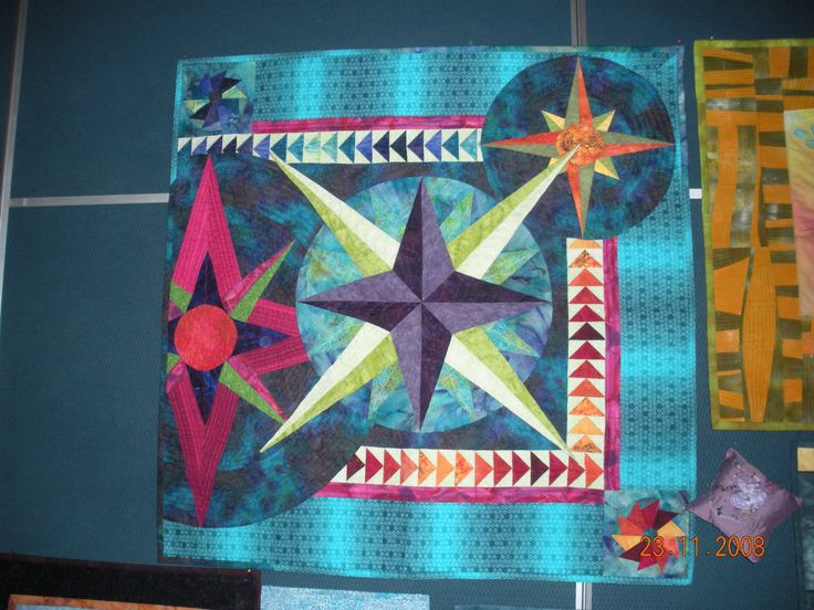 Mariner's Navigation - own design created in class at Fabric Art Studio.