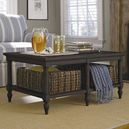 Coffee table with storage baskets woodworking projects for Coffee table with storage baskets