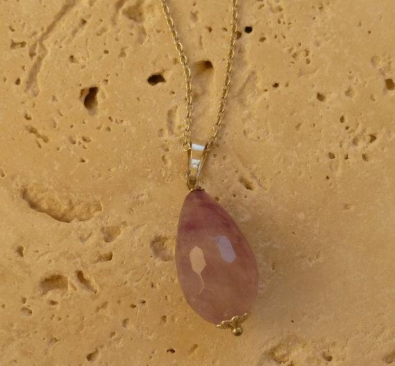 Gorgeous Amethyst pendant Lilac Gemstone Multi by ShawlsandtheCity, $18.00