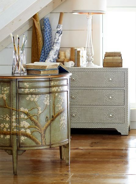 I love the look of softly painted furniture, reminds me of childhood