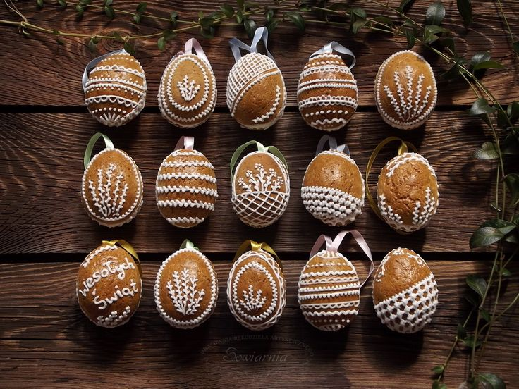 Piernikowe pisanki / Gingerbread Easter eggs