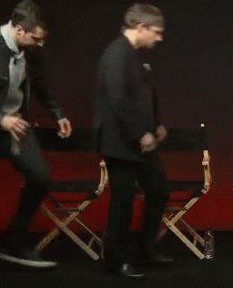 Richard Armitage & Martin Freeman<<<omg did Martin just squeeze Richards leg???? I find this super funny
