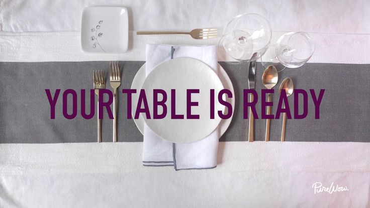 How to set a beautiful and welcoming table via @PureWow