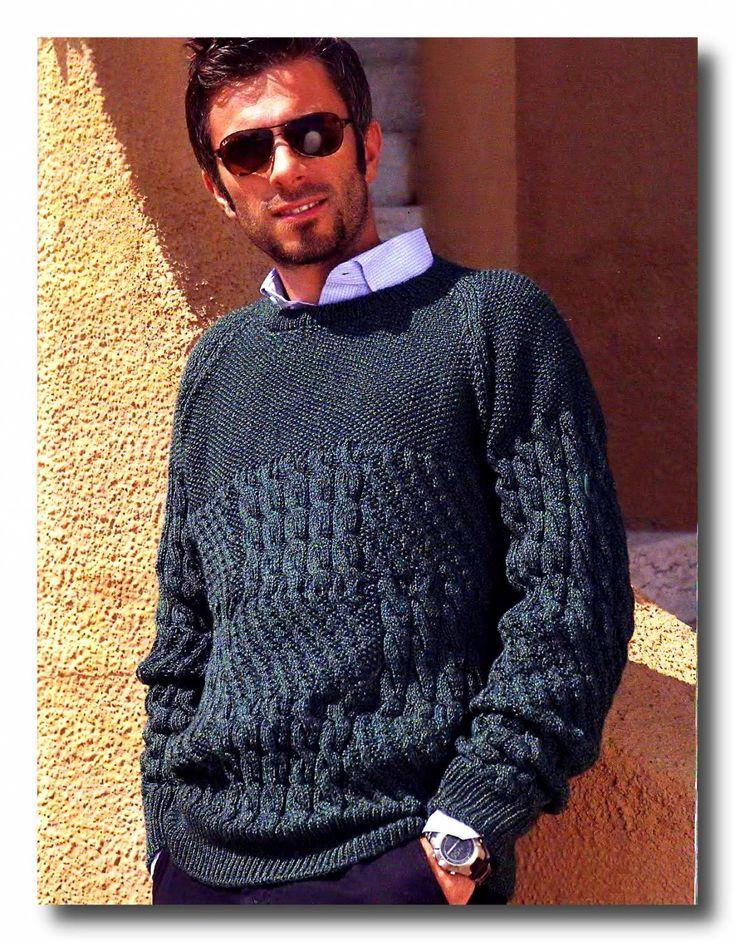 Pánský pletený svetr s copánky