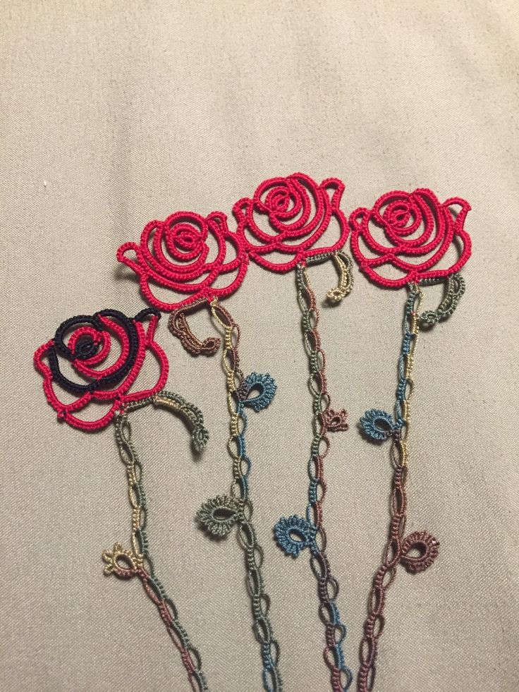A while back I was looking for a rose pattern to tat. A friend had requested rose bookmarks for her two emergent readers. I went hunting f...