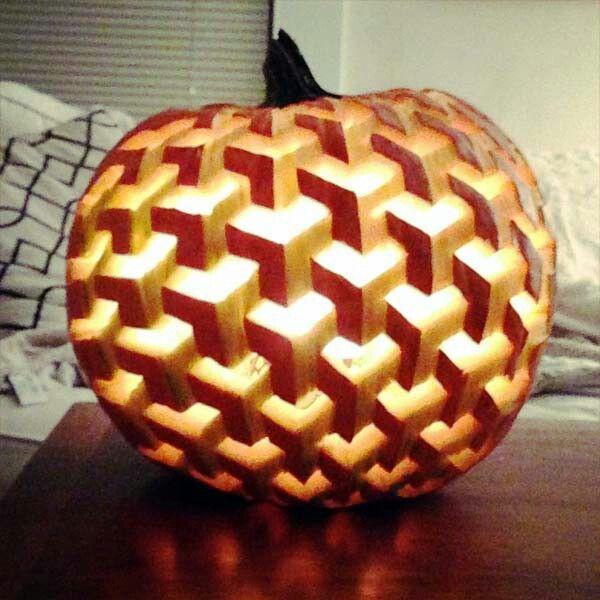3d illusion pumpkin