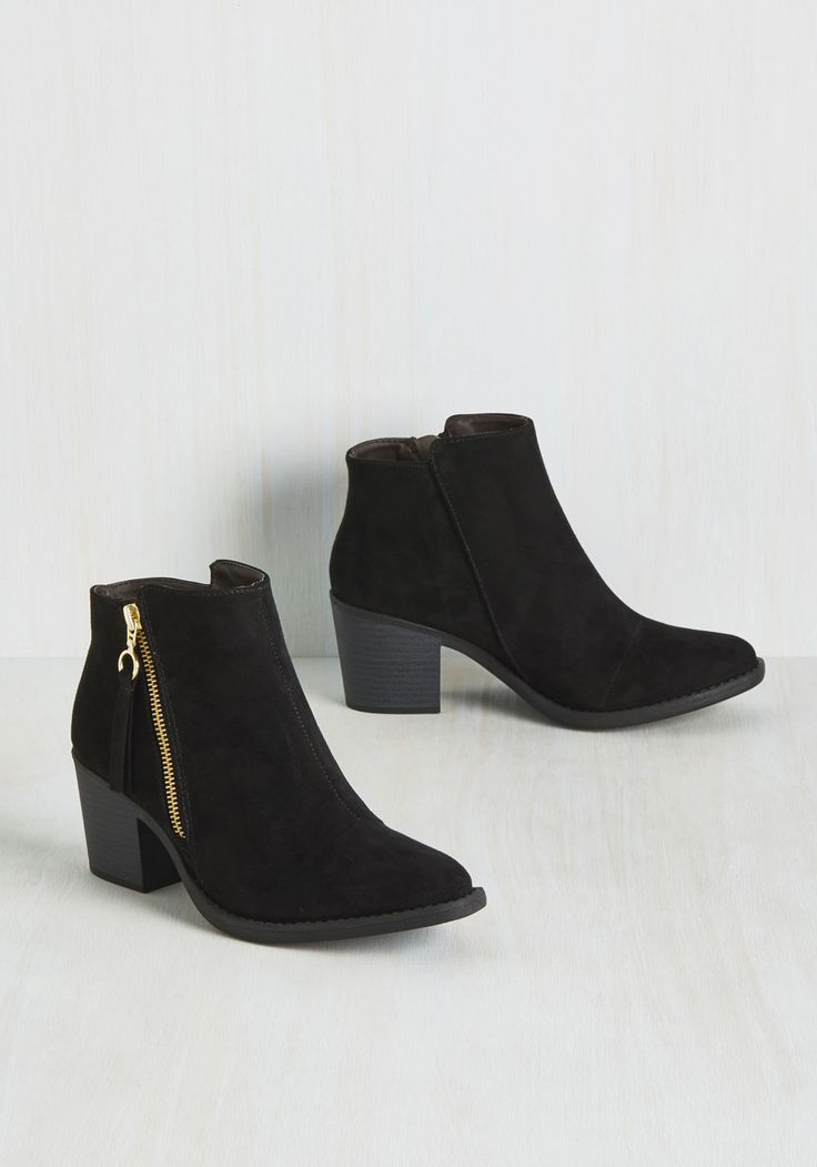 Just My Archetype Bootie. When it comes to classics, theres nothing sleeker and chicer than this perfect pair of black booties! #black #modcloth