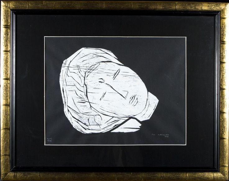 Ina Colliander, puupiirros, 40x34 cm, edition 80/99 - HagelstamA126