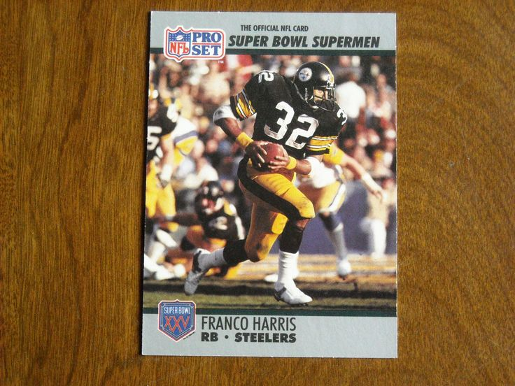Franco Harris RB Steelers Super Bowl XXV Supermen No. 41 (FB41) 1990 Pro Set Football Card - for sale at Wenzel Thrifty Nickel ecrater store