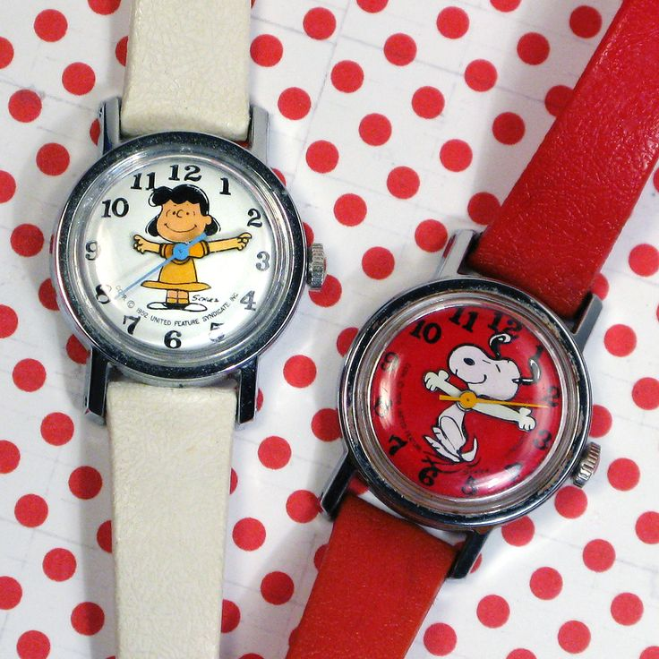 Time for a change? Let Snoopy and Lucy give you the time of day with these cute, vintage watches, now available in our shop at CollectPeanuts.com.