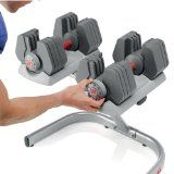 Universal Power-Pak 445 Adjustable Dumbbells with Stand (Combo)