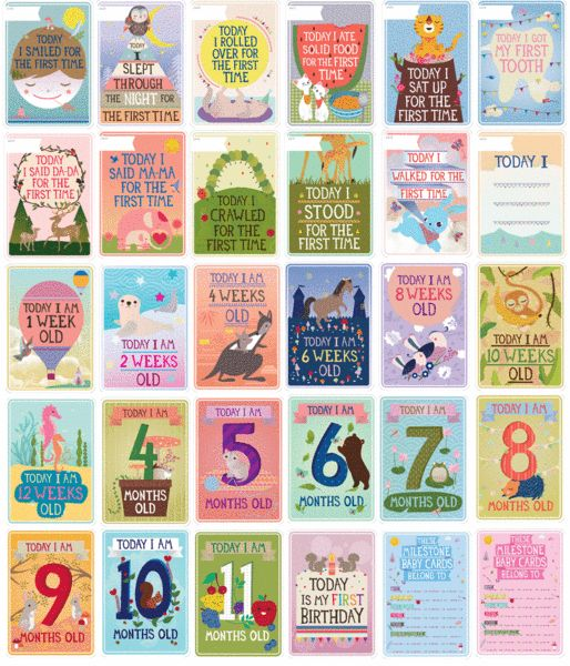Milestone Baby Cards I need to get these next time around!