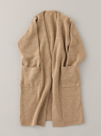 ARTS&SCIENCE Buttonless Long Cashmere Cardigan