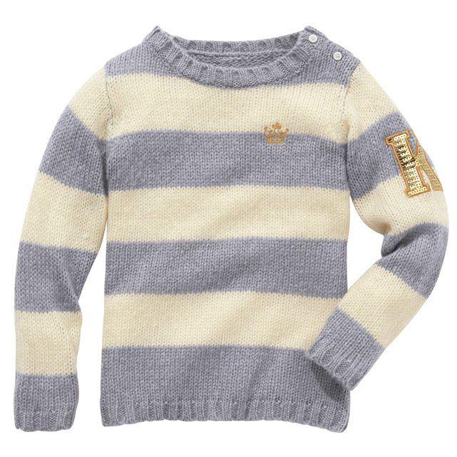 Gestreepte trui, college spirit, voor meisjes 25