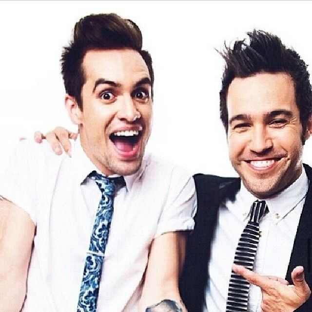 Brendon Urie and Pete Wentz. No IM fine...it's the middle school fangirl that's within that needs to cool it.