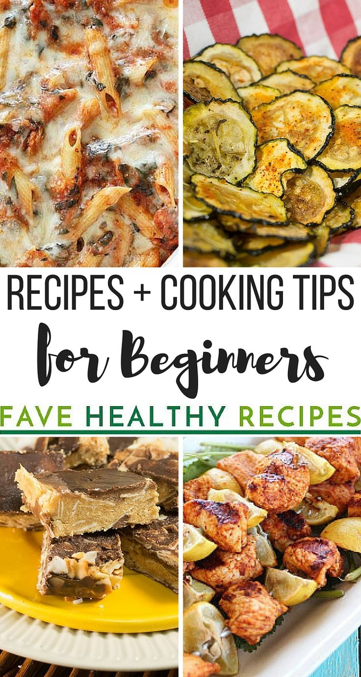 A collection of easy healthy recipes and cooking tips for beginners that is invaluable to someone just starting to cook for themselves.