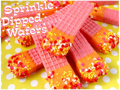 Sprinkle Dipped Wafers