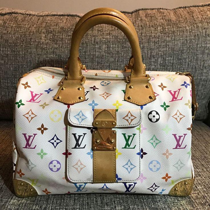 Authentic Louis Vuitton Multicolore Speedy Satchel Bag  | eBay