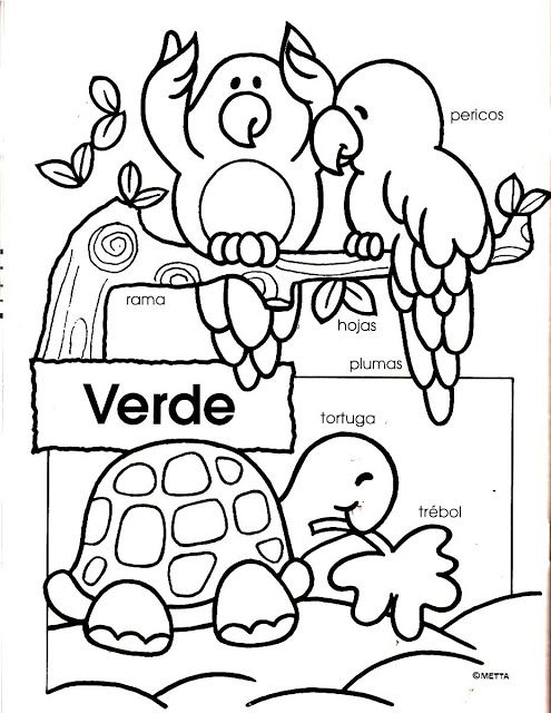 COLORES coloring Pages