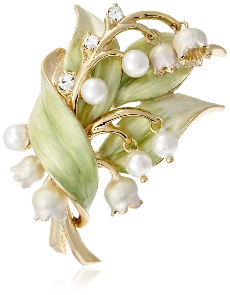 Lily of the Valley Brooch, by Vendome Boutique